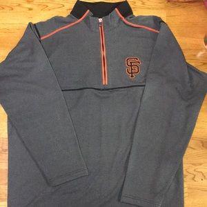 Authentic SF Giants Men's XXL 3/4 zip pull over